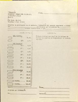 Advertising contract with Liberación