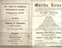 Martha Loma - Ultimo Recital / Last Recital