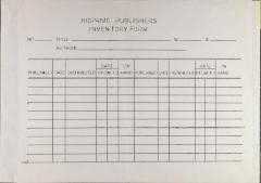 Hispanic Publishers Inventory Form