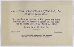 Liga Puertorriqueña invitation