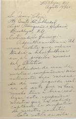 Correspondence from Emilia Colón