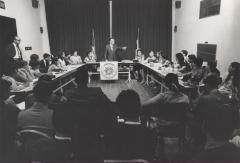 Luis A. Ferré at an ASPIRA forum
