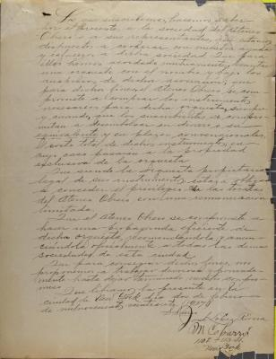 Correspondence from José López Rivera