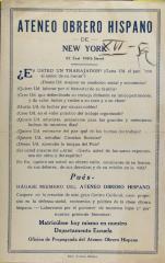 Ateneo Obrero Hispano de New York
