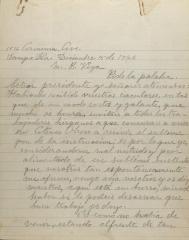 Correspondence from Antonio Huerta