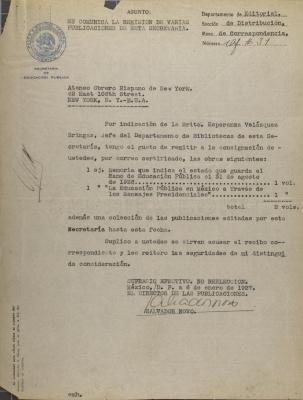 Correspondence from Salvador Novo