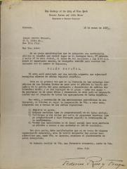 Correspondence from Federico Rico y Fragua