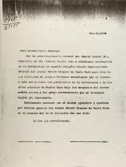 Correspondence from Ateneo Obrero