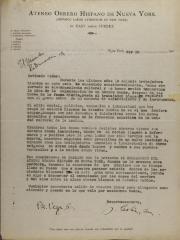 Correspondence from Jesús Colón