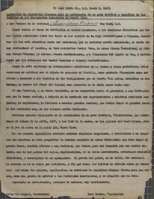 Agrupación de Sociedades Hispanas / Grouping of Hispanic Societies