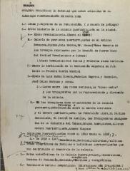 Bosquejo Preliminar de Materias Que Serán Incluidas En El Almanaque Puertorriqueño de Nueva York / Preliminary Draft of Matters That Will Be Included in the New York Puerto Rican Almanac