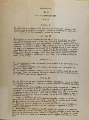 Constitucion de la Casa de La Puerto Rico, Inc.