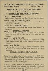 Club Obrero Español flyer
