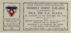 Club Cubano Inter-Americano soiree ticket