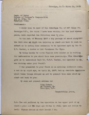 Correspondence from John Sotero
