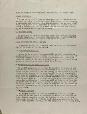 Plan de Campaña Pro Periódico Progresista en Puerto Rico / Campaign Plan Pro Progressive Newspaper in Puerto Rico