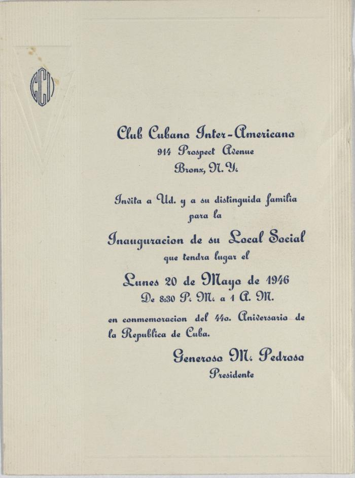 Club Cubano Interamericano Program