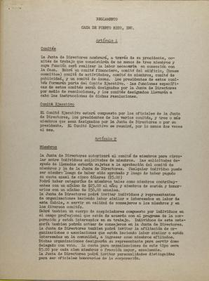 Reglamento - Casa de Puerto Rico, Inc.
