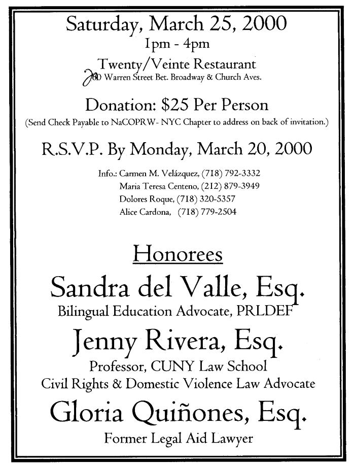 Women's History Month Celebration of Women in The Law invitation