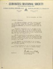 Correspondence from Sociedad Fraternal Cervantes
