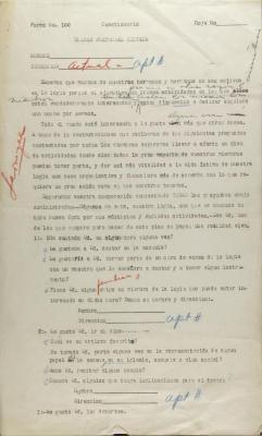 Unidad Fraternal Hispana questionnaire