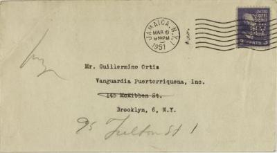 Correspondence to Vanguardia Puertorriqueña