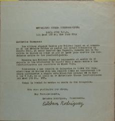 Correspondence from Mutualista Obrera Puertorriqueña