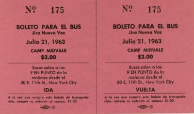 Boleto Para El Bus / Bus Ticket