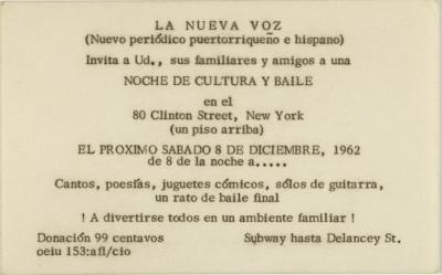 Noche de Cultura y Baile / Night of Culture and Dance