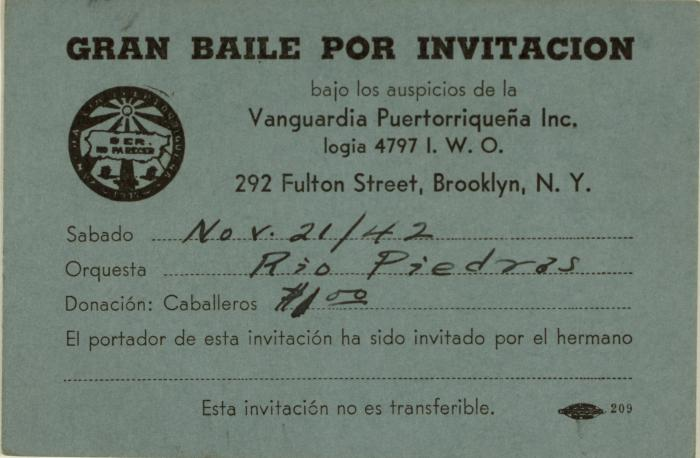 Gran Baile Por Invitacion / Great Dance By Invitation