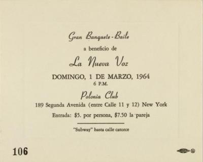 Gran Banquete-Baile / Great Banquet-Dance