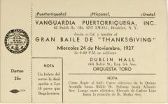 "Gran Baile de ""Thanksgiving"" / Great Thanksgiving Dance"