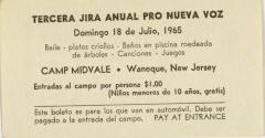 Tercera Jira Anual Pro Nueva Voz / Third Annual Jira for Nueva Voz