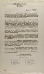 Correspondence from Comité Provisio Pro Prensa