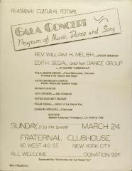 Gala Concert - Program of Music, Dance, and Song
