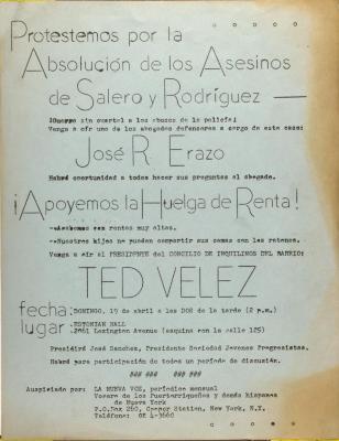 Protestemos por la Absolución de los Asesinos de Salero y Rodriguez