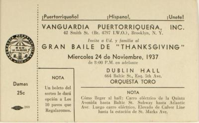 "Gran Baile de ""Thanksgiving"" / Great Thanksgiving Dance"