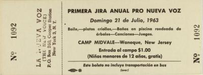 Primera Jira Anual Pro Nueva Voz / First Annual Jira for Nueva Voz