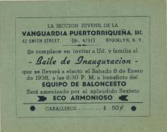 Baile de Inauguracion / Inauguration Dance