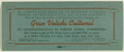 Gran Velada Cultural / Great Cultural Evening