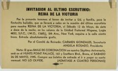 Invitacion a La Ultimo Escrutinio: Reina de la Victoria / Invitation to The Last Scrutiny: Queen of Victory