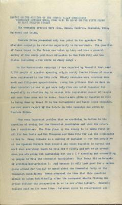 Report on the Meeting of the Puerto Rican Commission