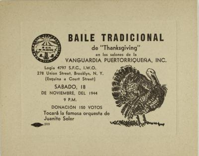 "Baile Tradicional de ""Thanksgiving"" / Traditional Thanksgiving Dance"