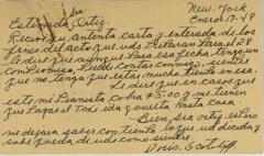 Correspondence from Doris Scotoliff