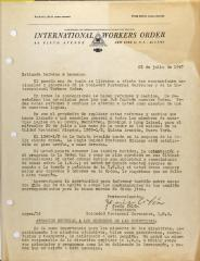 Correspondence from Jesús Colón of the International Workers Order