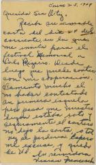 Correspondence to Cervantes Fraternal Society