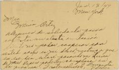 Correspondence to Sociedad Fraternal Cervantes