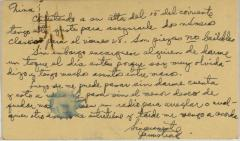 Correspondence to Cervantes Fraternal Society, IWO