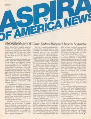 ASPIRA of America News, Fall 1975