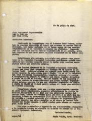 Correspondence from Jesús Colón of El Comité Nacional De La Sección Hispánica